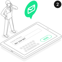 Kontaktfreies Eintrittssystem