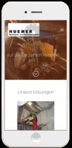 Webseite Huemer GmbH
