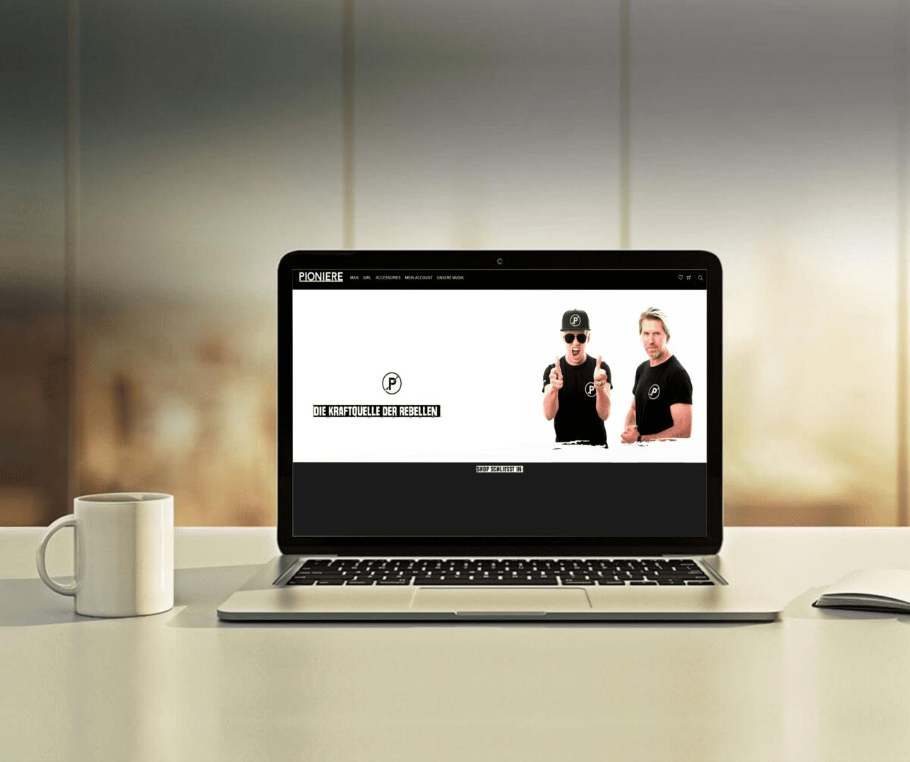 Pioniere Webshop Mockup