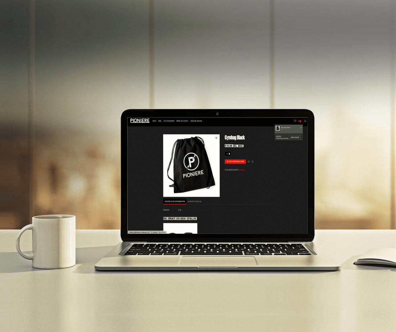 Pioniere Webshop, Einzelprodukt