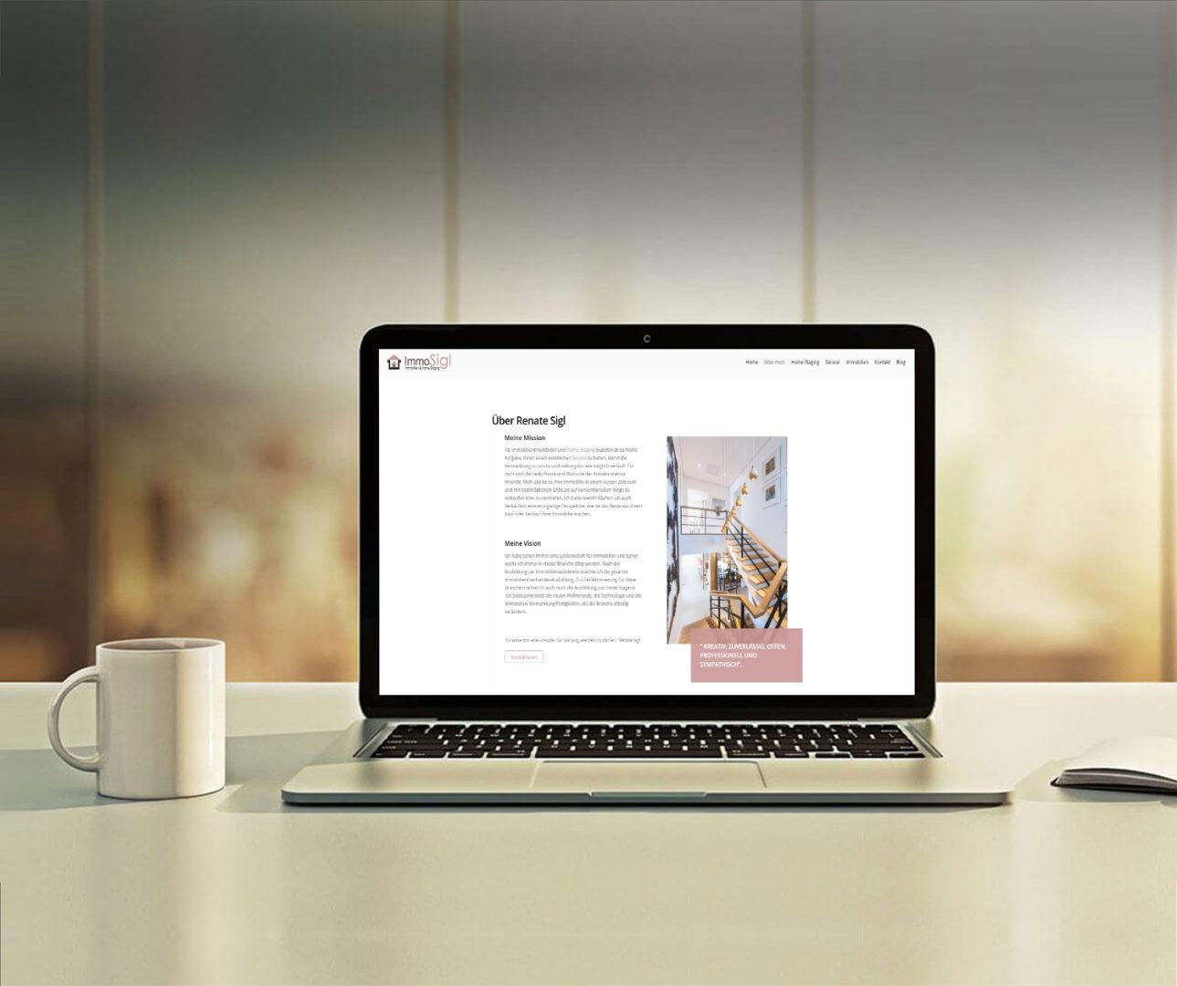 klare Linien, alles wichtige auf einen Blick und natürlich viele schöne Fotos. Das war das Motto für die neue Webseite von Renate Sigl.