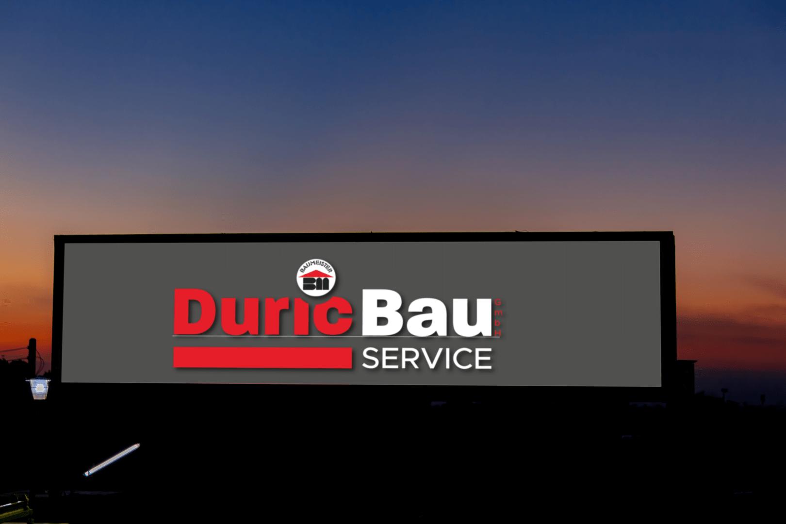 Duric Bauservice, Kronstorf, Lichtwerbung, FallenEight, Kevin Lambert