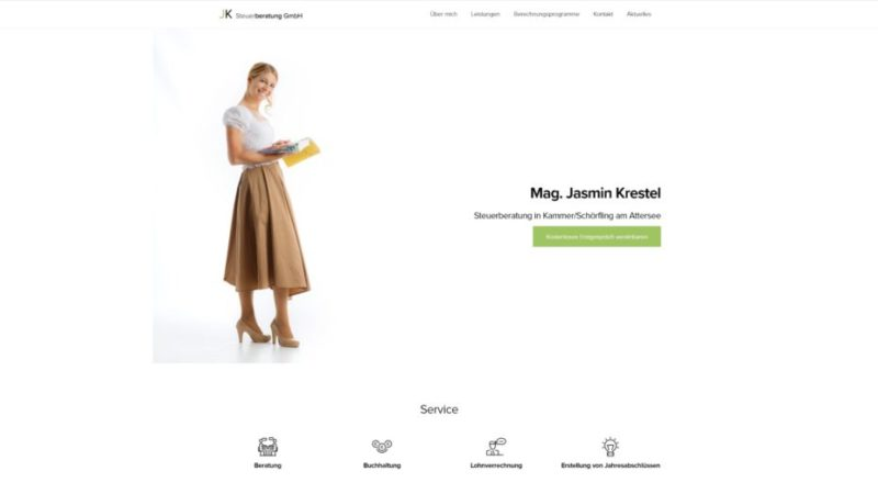 Screenshot-Startseite